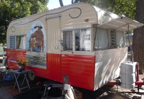 17-foot 1959 Fireball Camping Trailer